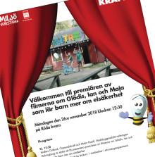 Pressinbjudan: Filmpremiär för barn om elsäkerhet