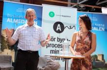 Veronica Palm (S) och Ulf Perbo (KD) debatterade bostadsbyggande i Almedalen: Investeringsstöd den stora skiljelinjen mellan blocken