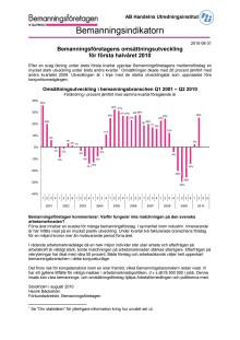 Bemanningsindikatorn 2 kvartalet 2010