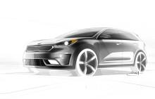 Kia presenterar hybridsuven Niro HUV