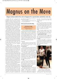 Magnus on the Move - Article in CHESS