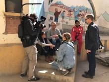 Världsmästaren Armand Krajnc i Oruro med Barnfonden