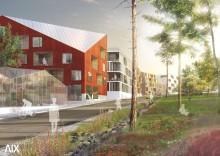 Modell förstärker och tydliggör Väsby Entré/Stationsområdet