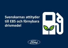 Fords rapport: Stor okunskap och mytbildning om E85 och andra förnybara drivmedel