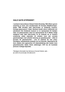 Hald Gate Stipendiet