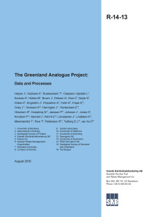 The Greenland Analogue Project: Data Report