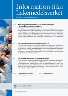 Information från Läkemedelsverket nr 1 2017