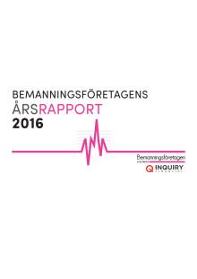 Årsrapport Bemanningsföretagen 2016