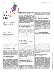 Auf einen Blick - die zehn wichtigsten Fragen zur betrieblichen Krankenversicherung