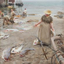 "Anders Zorn, ""Fiskmarknad i St. Ives"" - Utrop 18-20 miljoner"