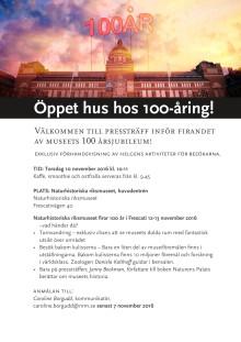 Inbjudan till pressträff inför museets 100-årsjubileum