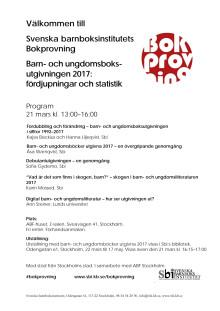 Program för Svenska barnboksinstitutets Bokprovning 2018
