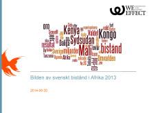 Bilden av biståndet - Bildanalys 2013