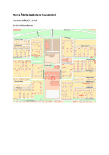 Karta, pressvisning i Norra Ålidhemsskolans huvudentré