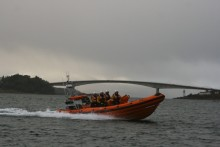 Celebrating the first anniversary of our fourth guest-funded RNLI lifeboat, Spirit of Fred. Olsen