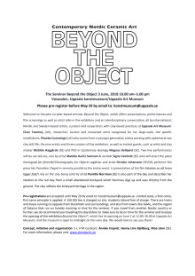 Seminar Beyond the Object