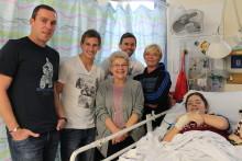Villa visit puts smiles on children's faces