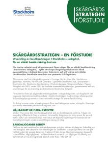 Skärgårdsstrategin - en del av Stockholmsstrategin 2020