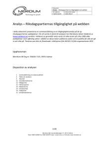 Analys av riksdagspartiernas tillgänglighet 2010.09.02