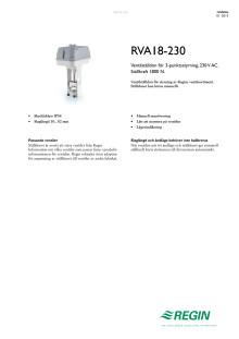 Produktblad för RVA18-230