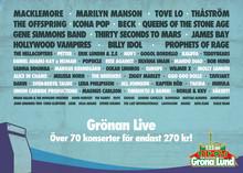 Kärlek och konserter är årets fokus på Gröna Lund