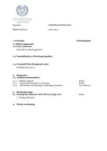 Fördragningslista, styrelsemöte 120914