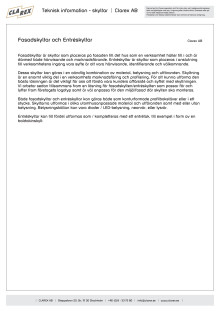 Teknisk information - Fasadskyltar och Entréskyltar