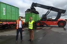 Norsk Gjenvinning och Tekniska verken använder Green Cargos miljövänliga transporter på järnväg