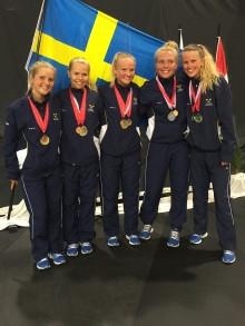 EM-silver i totaltävlingen i hopprep för Kämpinge GF
