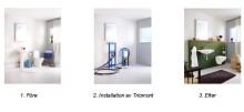 Mer golvyta och förvaring i badrummet med smart monteringssystem