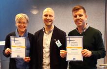 Kiillolle ja KiiltoCleanille Suomen Aktiivisimman Työpaikan sertifikaatit