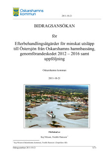 Bidragsansökan för sanering av Oskarshamns hamnbassäng