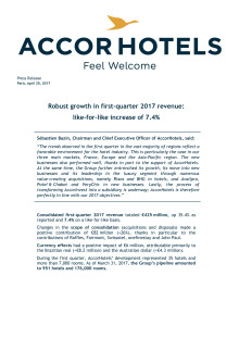AccorHotels Revenue Q1 2017