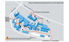 Akademiska sjukhuset stängs för genomfartstrafik
