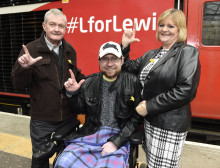#LforLewis cancer campaign takes to the tracks