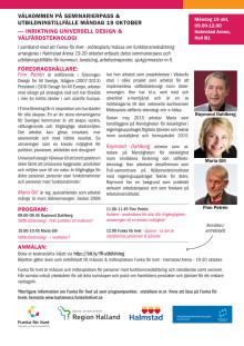 """Seminarie """"Universell design & välfärdsteknologi"""" - Halmstad 19 okt"""