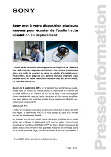 Communication de presse_HRA NWZ-A15_F-CH_140903