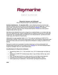 Raymarine lanserer nytt isfiskesett