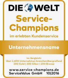 Service-Champions 2016: Bei wem erleben die Kunden den besten Service?