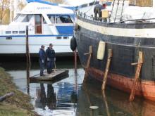 Pressinbjudan - Utdockning i Göta kanals torrdocka i Sjötorp  27 april