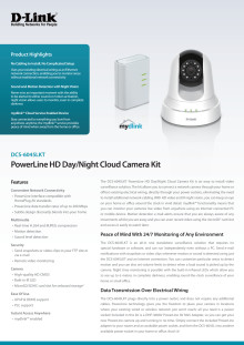 Produktblad, D-Link HD Day/Night Cloud Camera Kit (DCS-6045LKT)