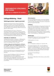 Floristutbildning - Informationsblad