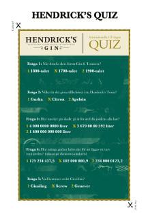 GT Dagen - Hendrick's Gin Quiz