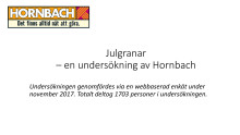 Diagram, julgranar, Hornbach