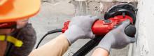 Ett verktyg, två arbetsmoment - nya Hilti DGH 130 diamantslip för ytslipning och polering