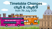 Timetable Changes - city5 and city8/9