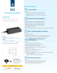 Brochure - JL Audio - MX Series Marine amplifiers