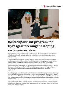 Hyresgästföreningens lokala program Köping