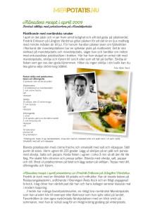 Månadens recept april 2009