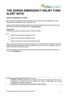 19-007 Alert Note Food Insecurity Crisis Kenya